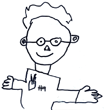 Myself, as seen by my then 6 year old son Joshua.
